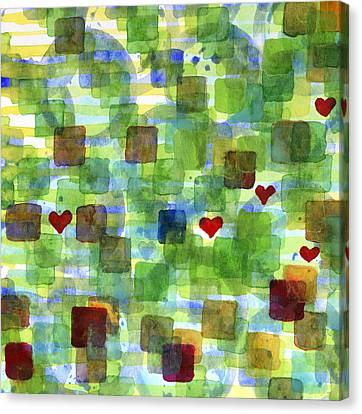 The Power Of Love Canvas Print by Heidi Capitaine
