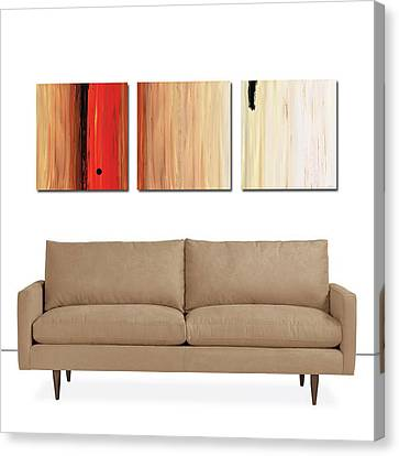 Canvas Print featuring the painting The Power Of One Triptych by Sharon Cummings