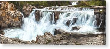 The Power Of The Falls IIi Canvas Print by Jon Glaser