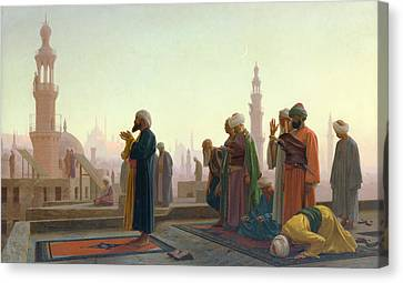 Muslims Canvas Print - The Prayer by Jean Leon Gerome