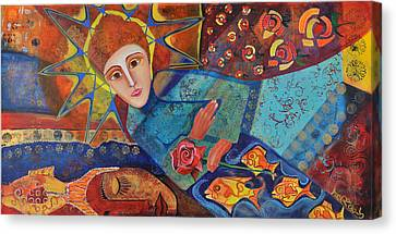 the Prayer Canvas Print by Jeanett Rotter