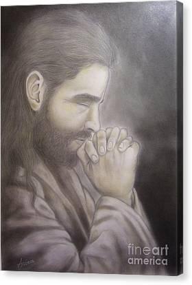 The Prayer Canvas Print by Oscar Arauz