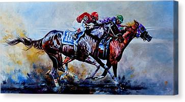 Dirt Canvas Print - The Preakness Stakes by Hanne Lore Koehler