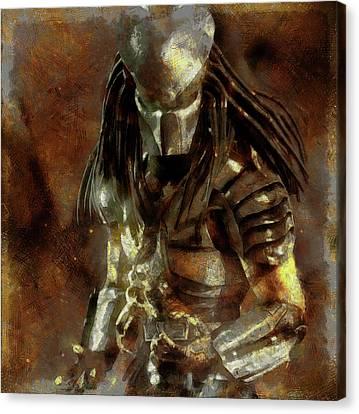 The Predator Scroll Canvas Print