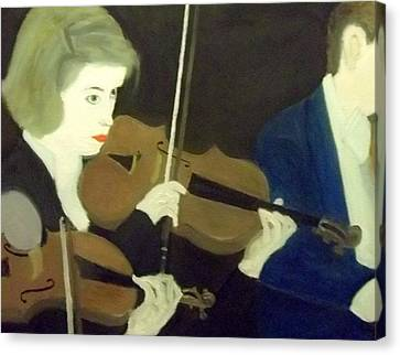 The Prettiest Violinist In The Orchestra Canvas Print