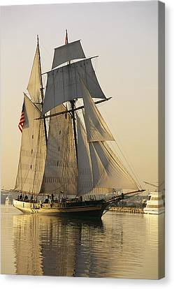 Southern States Canvas Print - The Pride Of Baltimore Clipper Ship by George Grall
