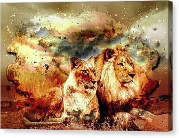 The Pride Water Color Canvas Print