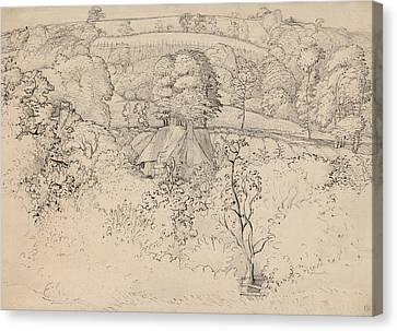 The Primitive Cottage, Shoreham Canvas Print