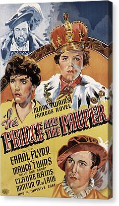 The Prince And The Pauper, Errol Flynn Canvas Print by Everett
