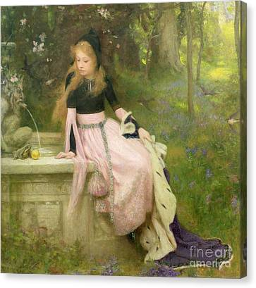 The Princess And The Frog Canvas Print by William Robert Symonds