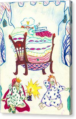 The Princess On A Pea Canvas Print by Rae Chichilnitsky