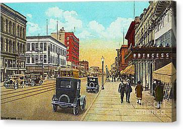 The Princess Theatre In Superior Wi In The 1930's Canvas Print