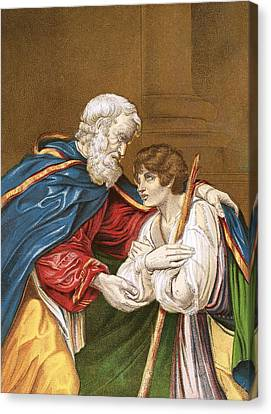 The Prodigal Son Canvas Print by English School