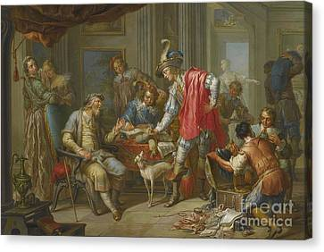 The Prodigal Son Takes Leave Of His Father Canvas Print by Celestial Images