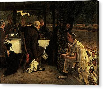 Prodigal Canvas Print - The Prodigal Son The Fatted Calf by James Jacques Joseph Tissot