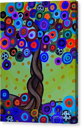 Canvas Print featuring the painting The Prolific Tree by Pristine Cartera Turkus
