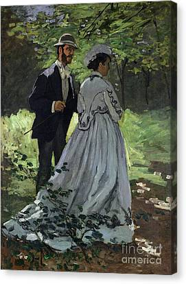The Promenaders Canvas Print by Claude Monet