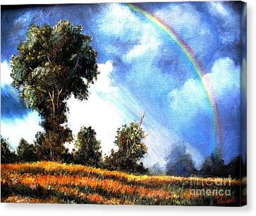 Canvas Print featuring the painting The Promise  by Hazel Holland