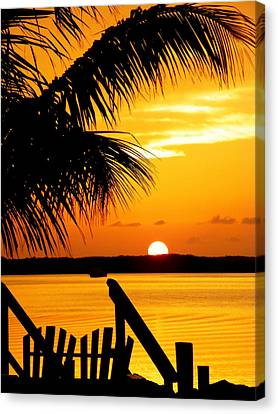 Tropical Sunset Canvas Print - The Promise by Karen Wiles