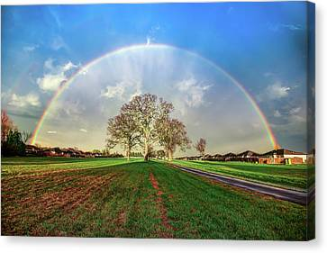The Promise - Suburban Rainbow Canvas Print by Gregory Ballos