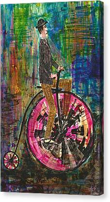 The Proper Cyclist Canvas Print
