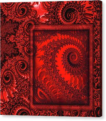 The Proper Victorian In Red  Canvas Print by Wendy J St Christopher