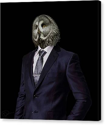 Human Canvas Print - The Prosecutor by Paul Neville