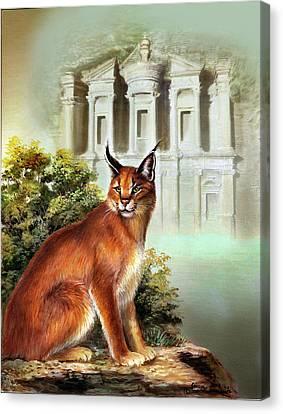 Petra Canvas Print - The Protector Of The City Of Petra by Regina Femrite