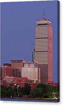 Skyline Canvas Print - The Pru And Prudential Center And Newly Constructed 330 Beacon Street Corporation Building by Juergen Roth