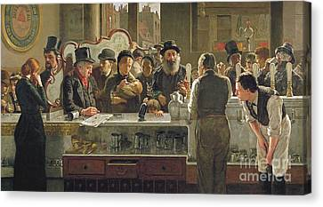 Waistcoat Canvas Print - The Public Bar by John Henry Henshall