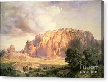 The Pueblo Of Acoma In New Mexico Canvas Print by Thomas Moran