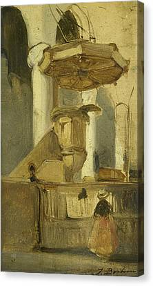 The Pulpit Of The Church In Hoorn Canvas Print