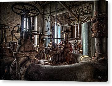 Factory Canvas Print - The Pumphouse by Everet Regal