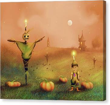 The Pumpkin Thief Canvas Print
