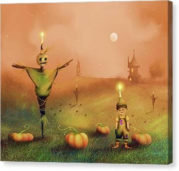 The Pumpkin Thief Canvas Print