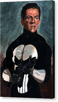 The Punisher In Pulp Canvas Print by Aljohn Gonzales