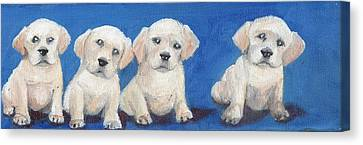 The Pups 1 Canvas Print by Roger Wedegis