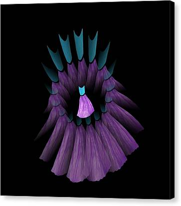 The Purple And Teal Dream Circle Of Wise Women Canvas Print by Jacqueline Migell