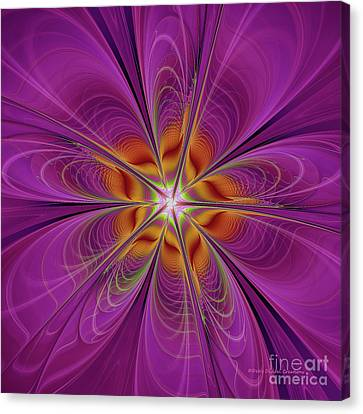 The Purple Bomb Canvas Print by Deborah Benoit