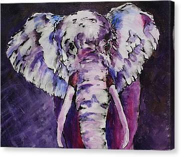 The Purple Bull Canvas Print by Tara Moorman
