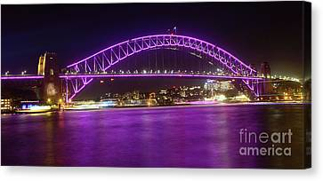 Canvas Print featuring the photograph The Purple Coathanger By Kaye Menner by Kaye Menner