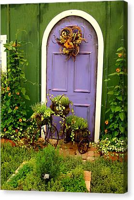 The Purple Door Canvas Print by Michiale Schneider