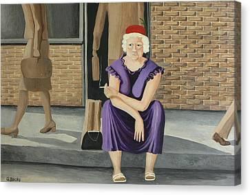The Purple Dress Canvas Print by Georgette Backs