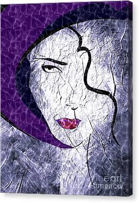 The Purple Hat Canvas Print