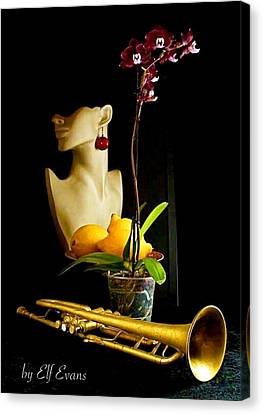Canvas Print featuring the photograph The Purple Orchid by Elf Evans