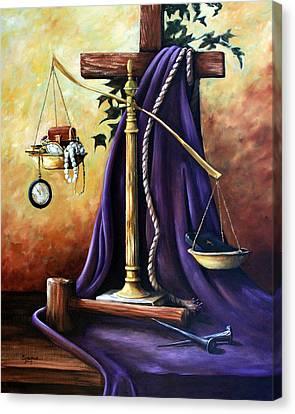 The Purple Robe Canvas Print