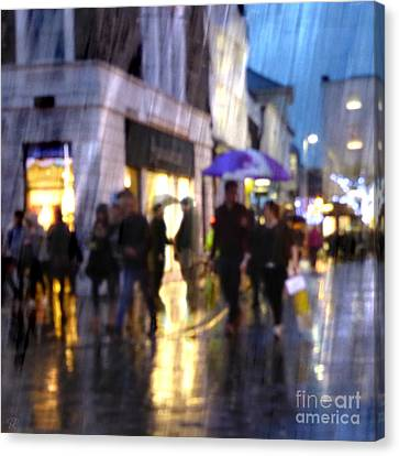 Canvas Print featuring the photograph The Purple Umbrella by LemonArt Photography