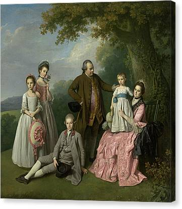 The Pybus Family Canvas Print by Nathaniel Dance