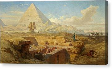 The Pyramids Canvas Print by William James Muller