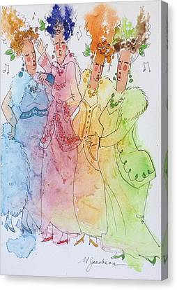 Canvas Print - The Quartet by Marilyn Jacobson